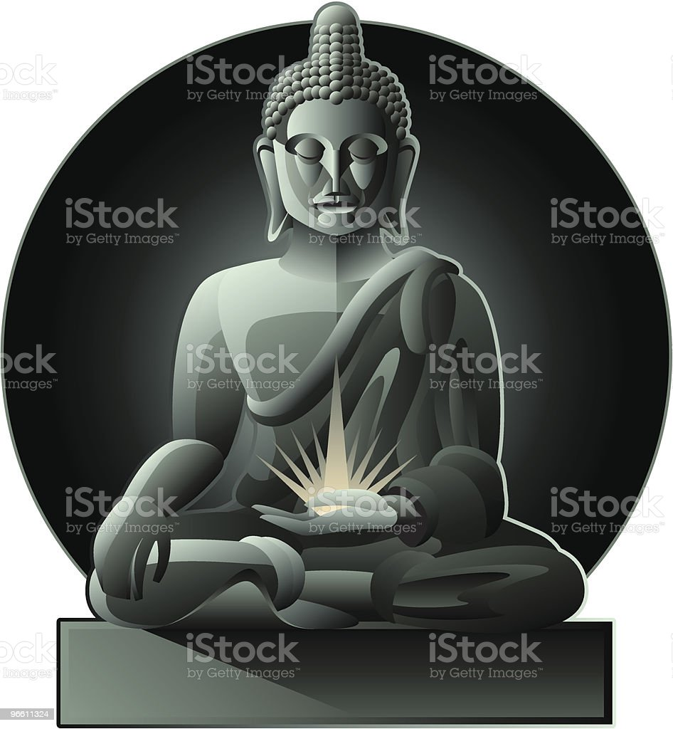 Buddha royalty-free stock vector art