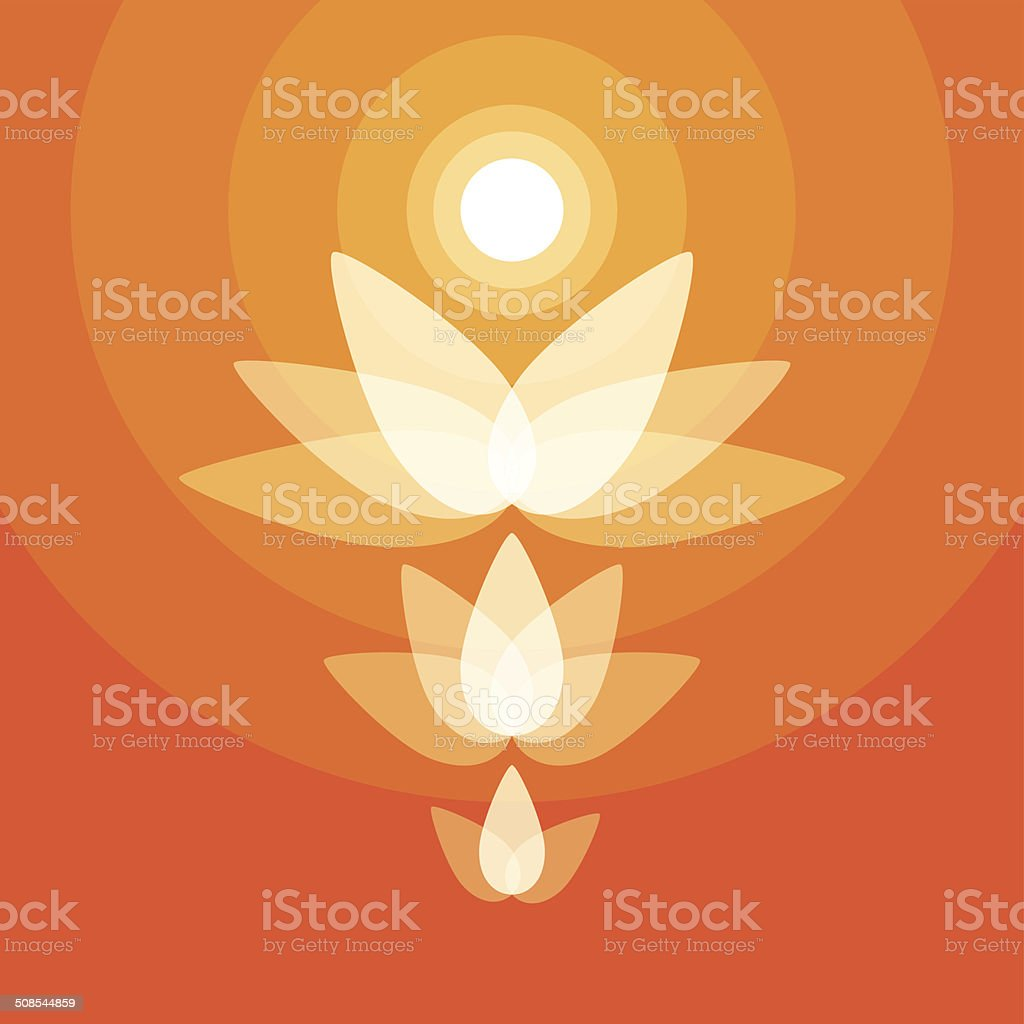 buddha,lotus,intuit vector art illustration
