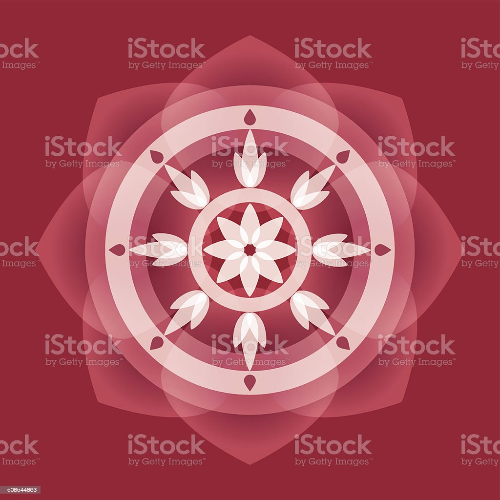 buddha,lotus,wheel of life,intuit vector art illustration