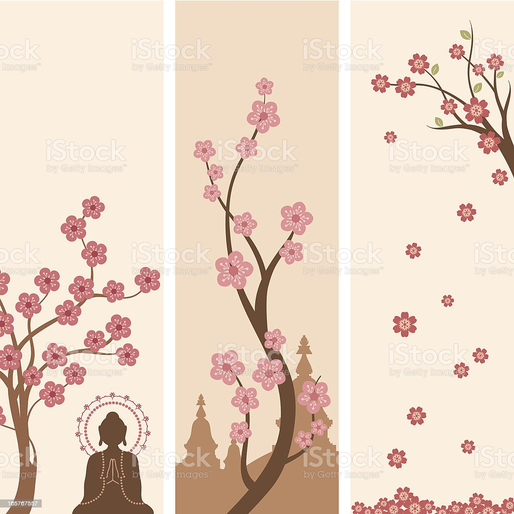Buddhist Banners royalty-free stock vector art