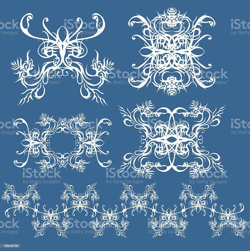 buddhist chants (design elements) royalty-free stock vector art