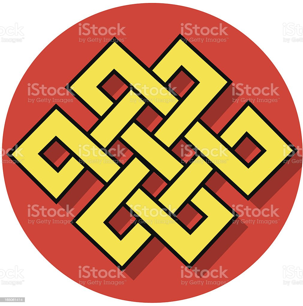 Buddhist endless knot icon royalty-free stock vector art