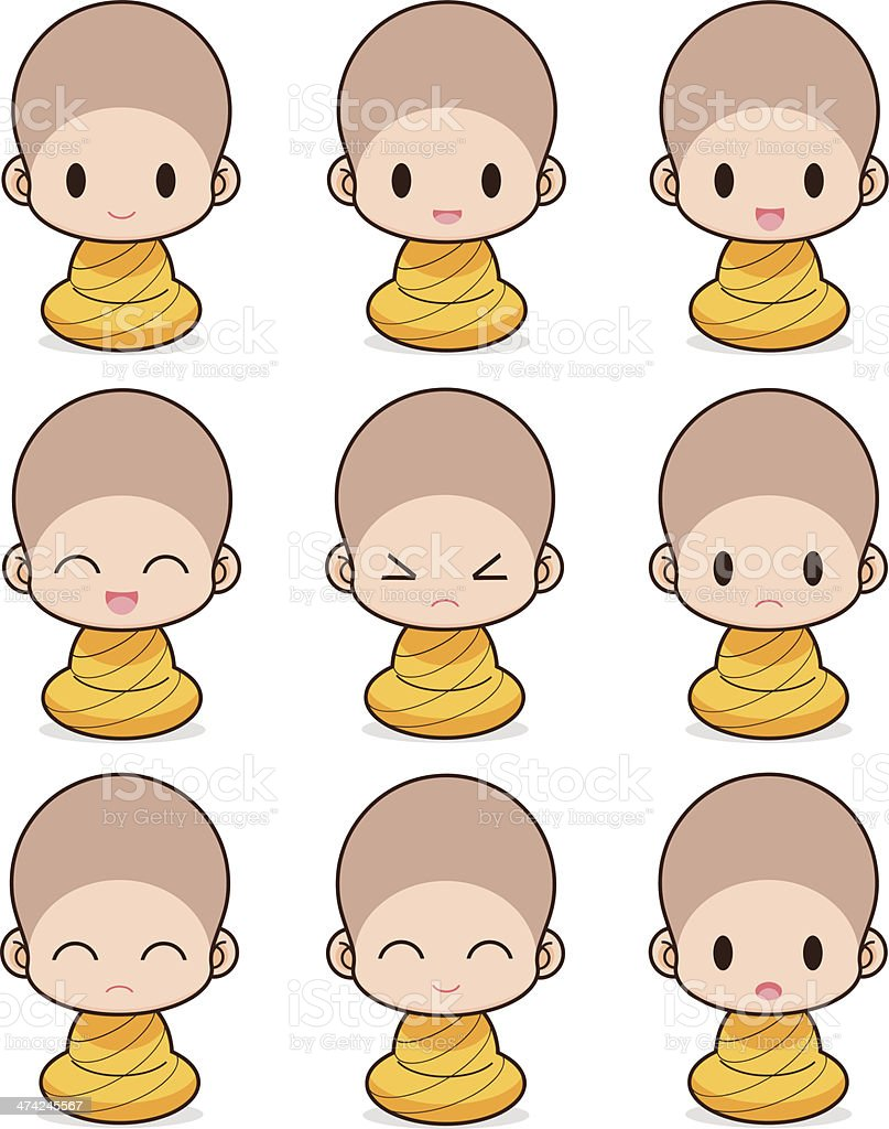 Buddhist Monk royalty-free stock vector art