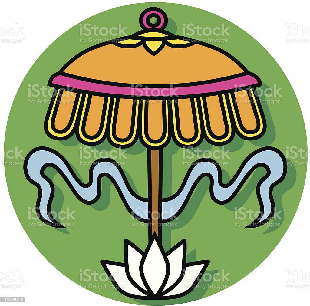 Buddhist parasol icon royalty-free stock vector art