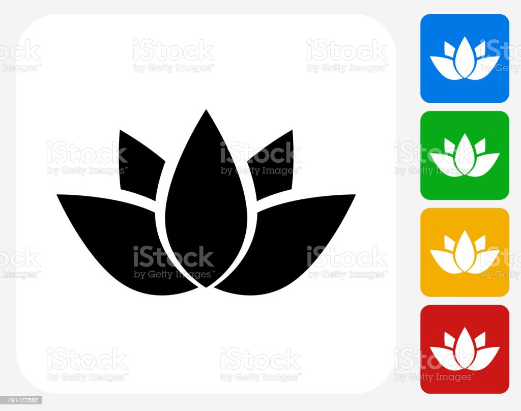 Buddhist Symbol Icon Flat Graphic Design vector art illustration