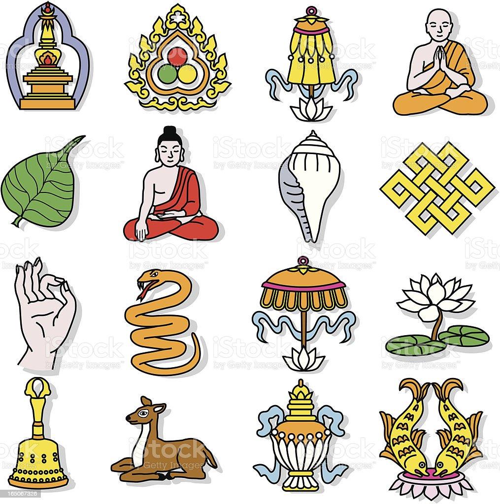 Buddhist royalty-free stock vector art