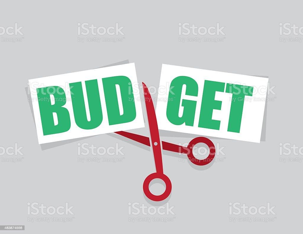 Budget Cut Scissors vector art illustration