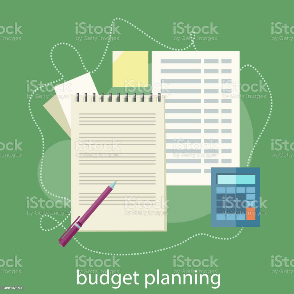 Budget planning concept vector art illustration
