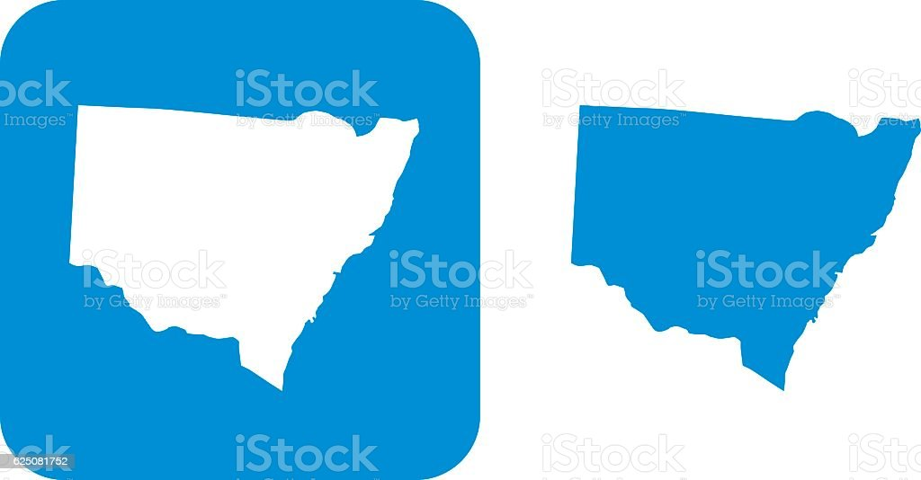 Bue New South Wales Icons vector art illustration