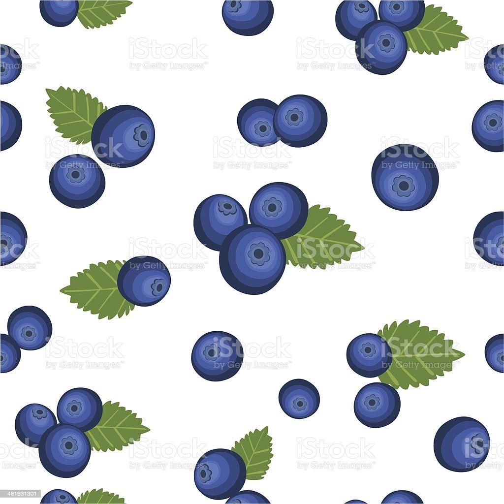 Bueberry Seamless Mania vector art illustration