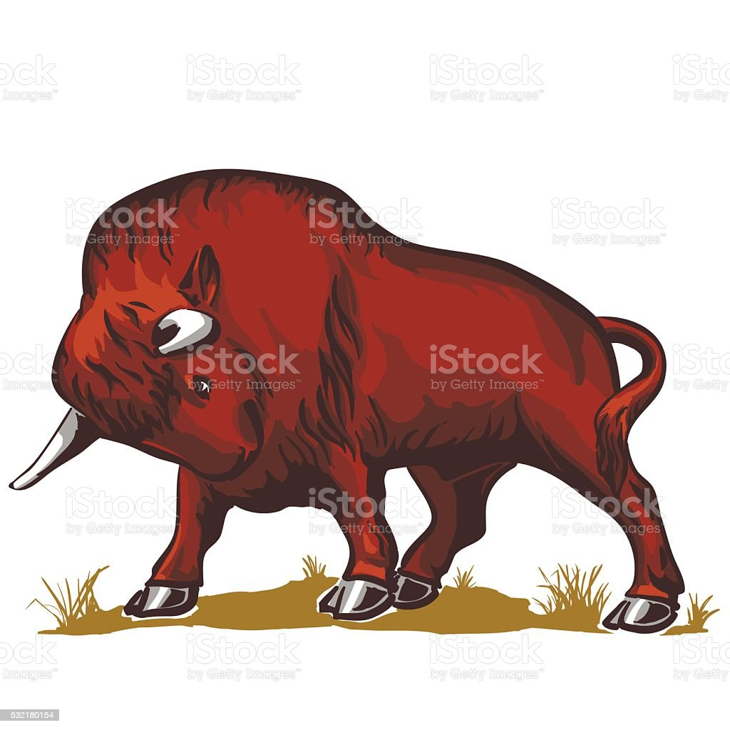 Buffalo Bull Bison stock vecteur libres de droits libre de droits