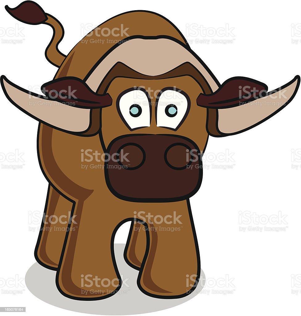 Buffalo Cartoon royalty-free stock vector art