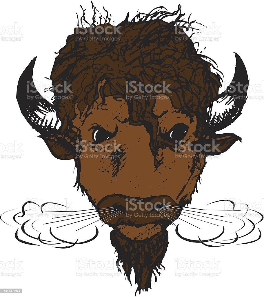 Buffalo Head royalty-free stock vector art