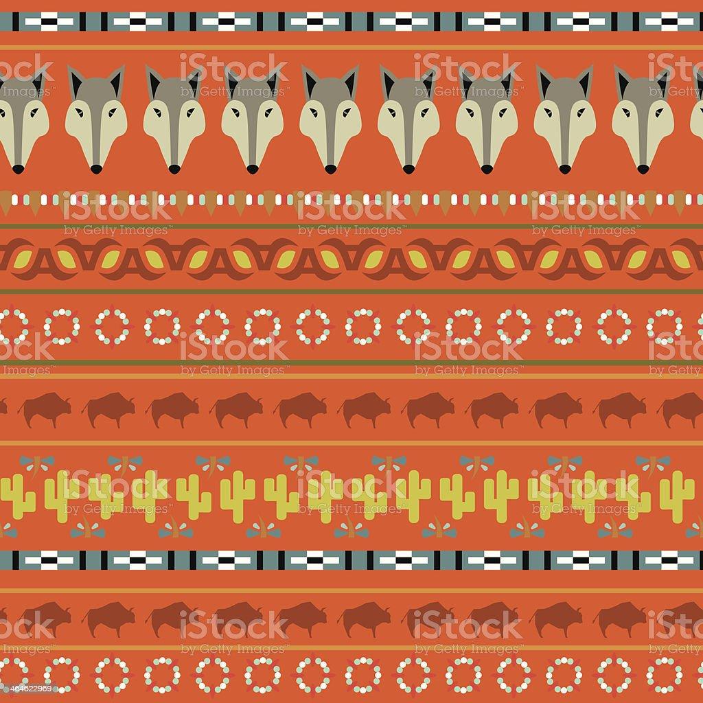 buffalo pattern vector art illustration
