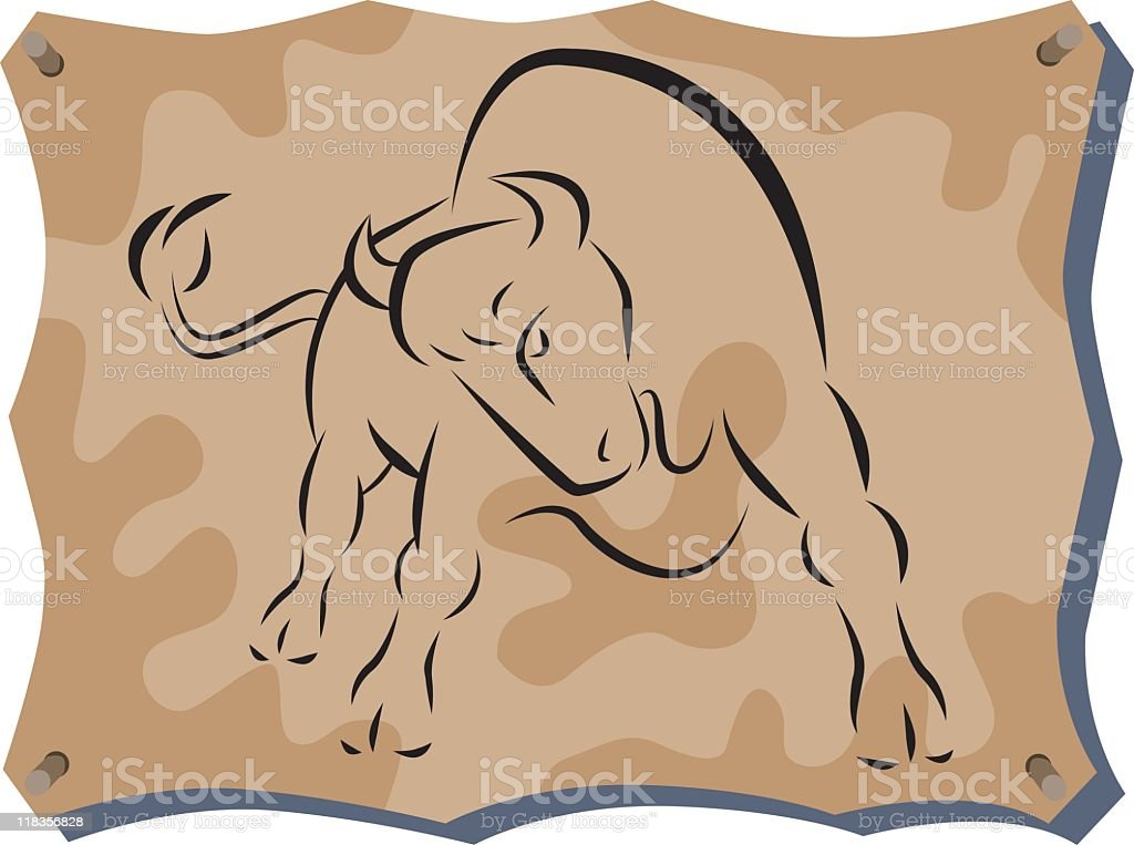 buffalo pelt royalty-free stock vector art