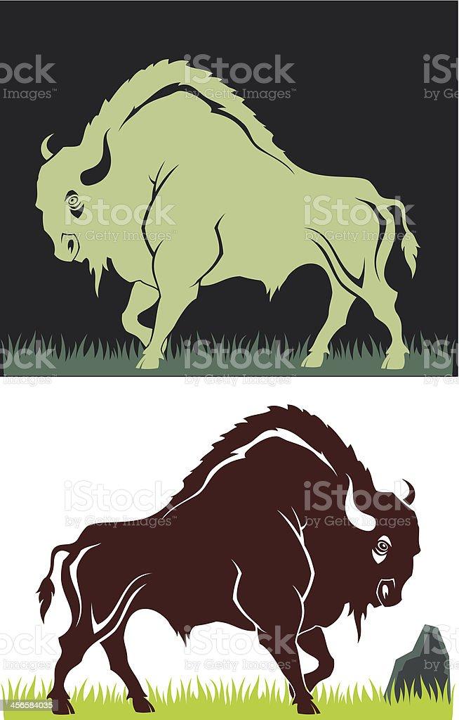 Buffalo royalty-free stock vector art