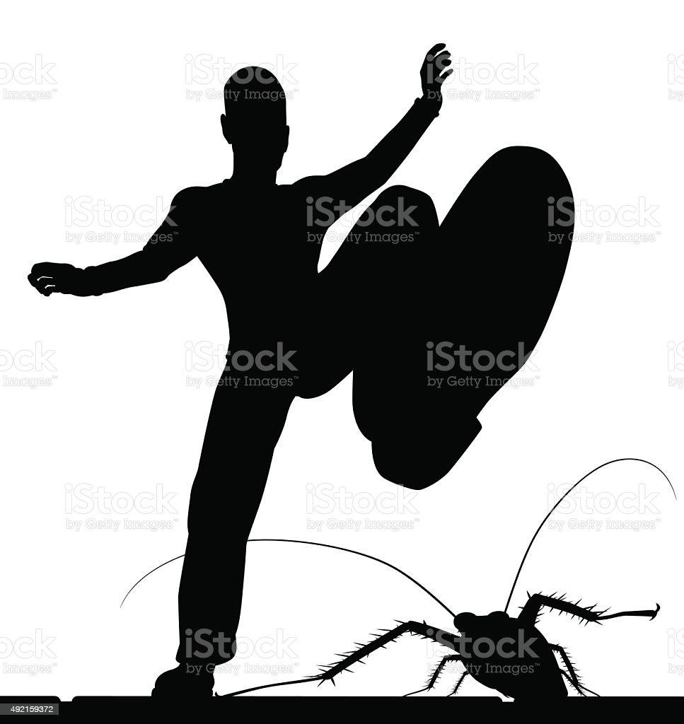 Bug control vector art illustration