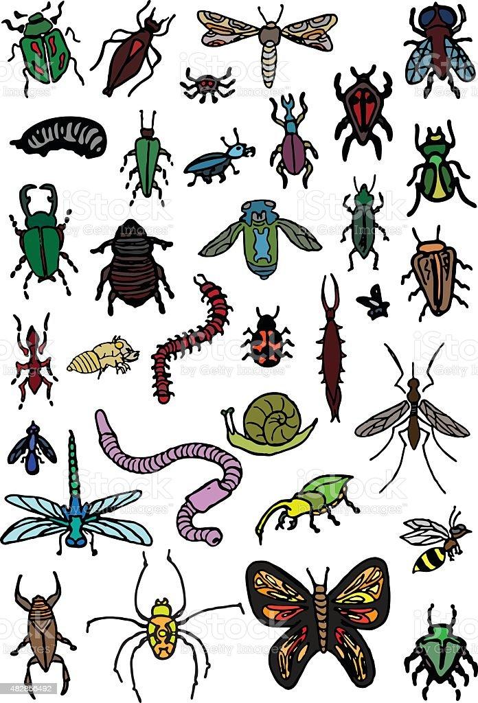 Bug Doodles vector art illustration