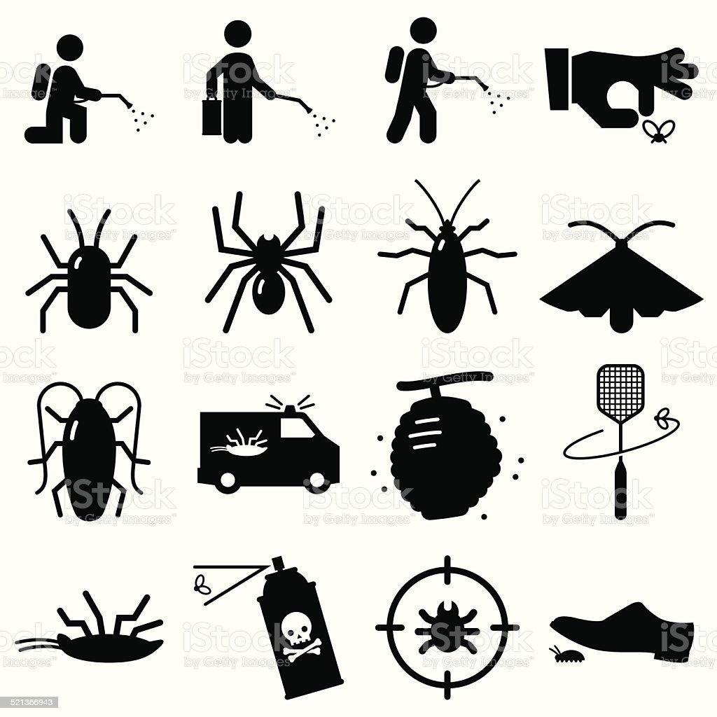 Bug Exterminators - Black Series vector art illustration