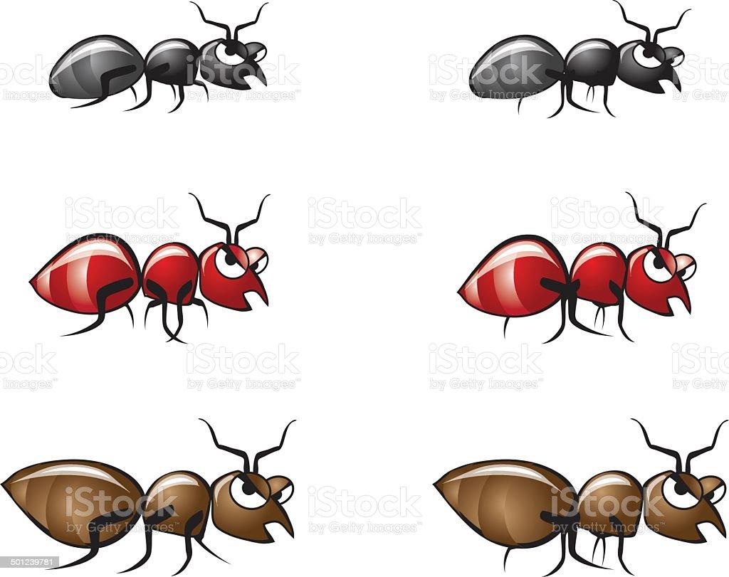 Bug Illustrations 2 vector art illustration