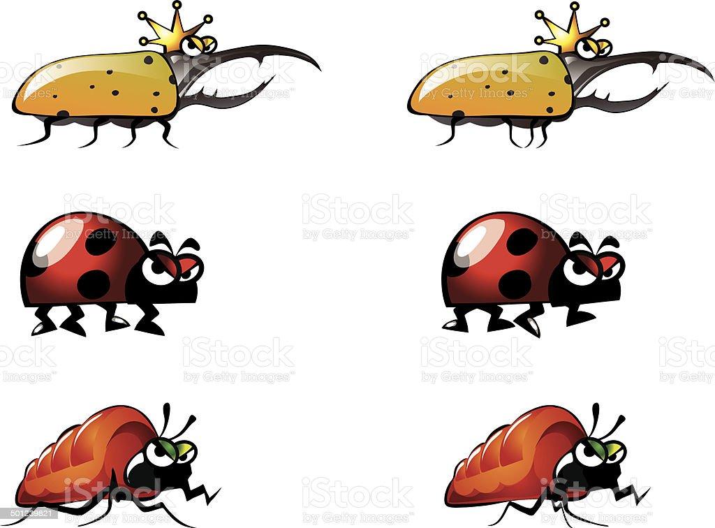 Bug Illustrations 4 vector art illustration