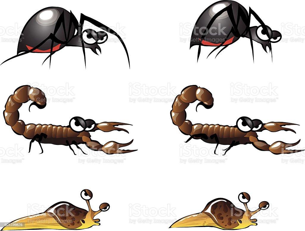 Bug Illustrations 5 vector art illustration