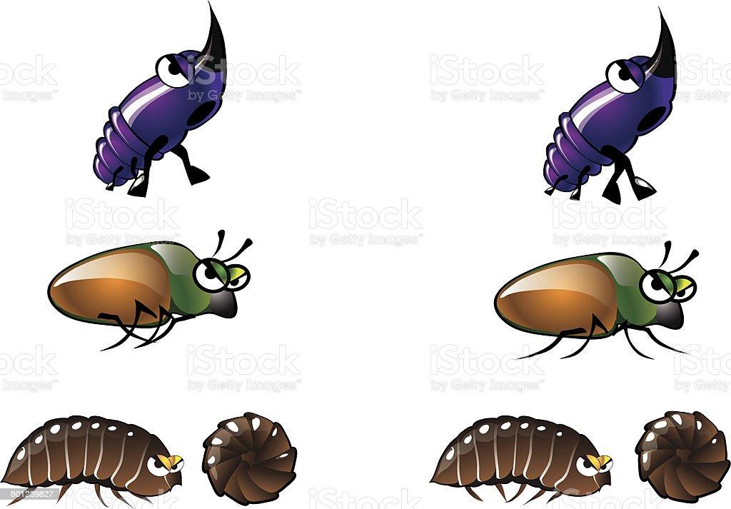 Bug Illustrations 6 vector art illustration