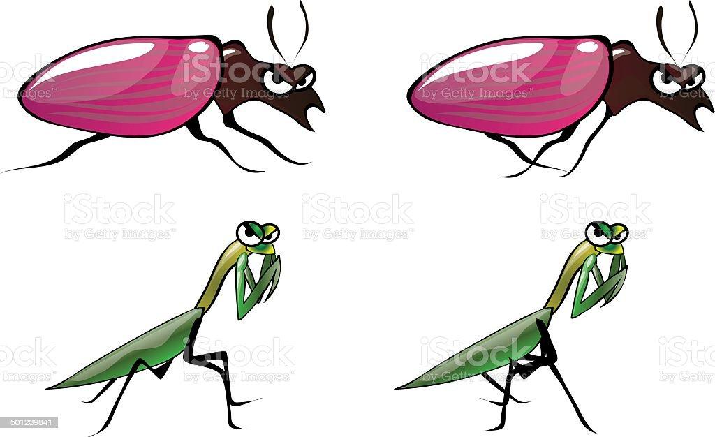 Bug Illustrations 7 vector art illustration