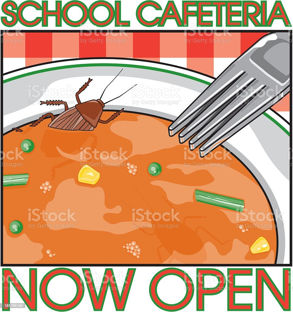 Bug in Soup royalty-free stock vector art