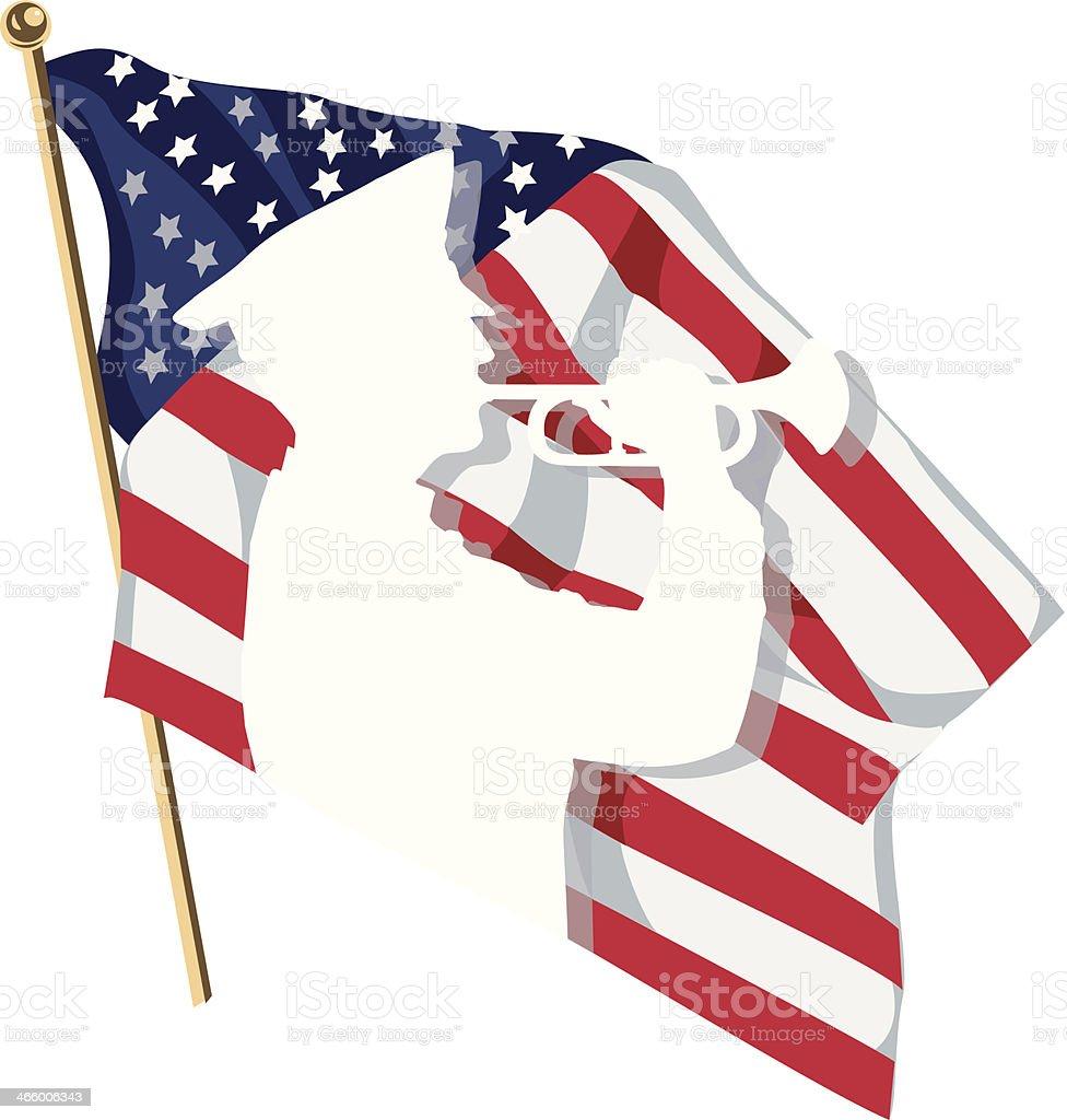 Bugler Flag C royalty-free stock vector art