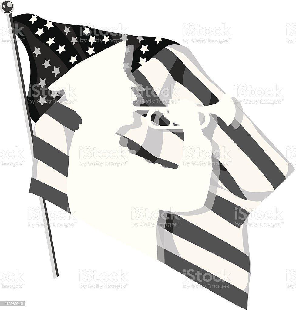 Bugler Flag royalty-free stock vector art