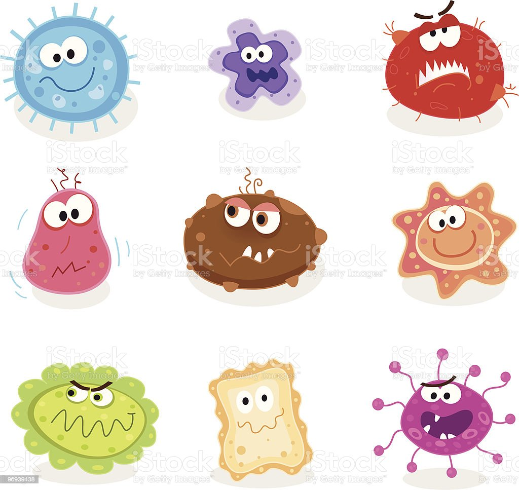 Bugs and germs I vector art illustration