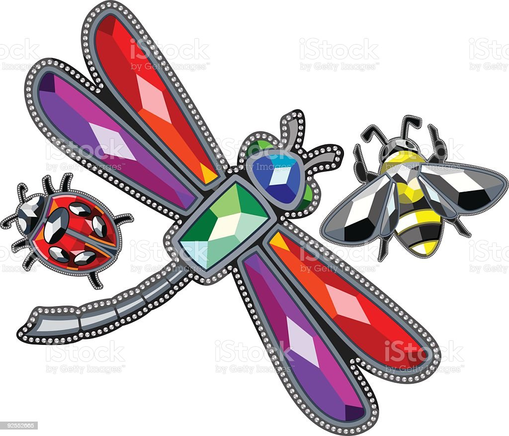 Bugs Bejeweled royalty-free stock vector art