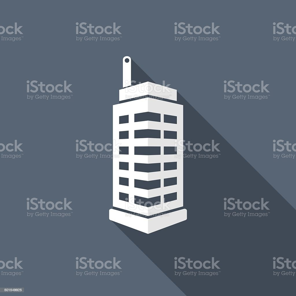 buiding icon vector art illustration