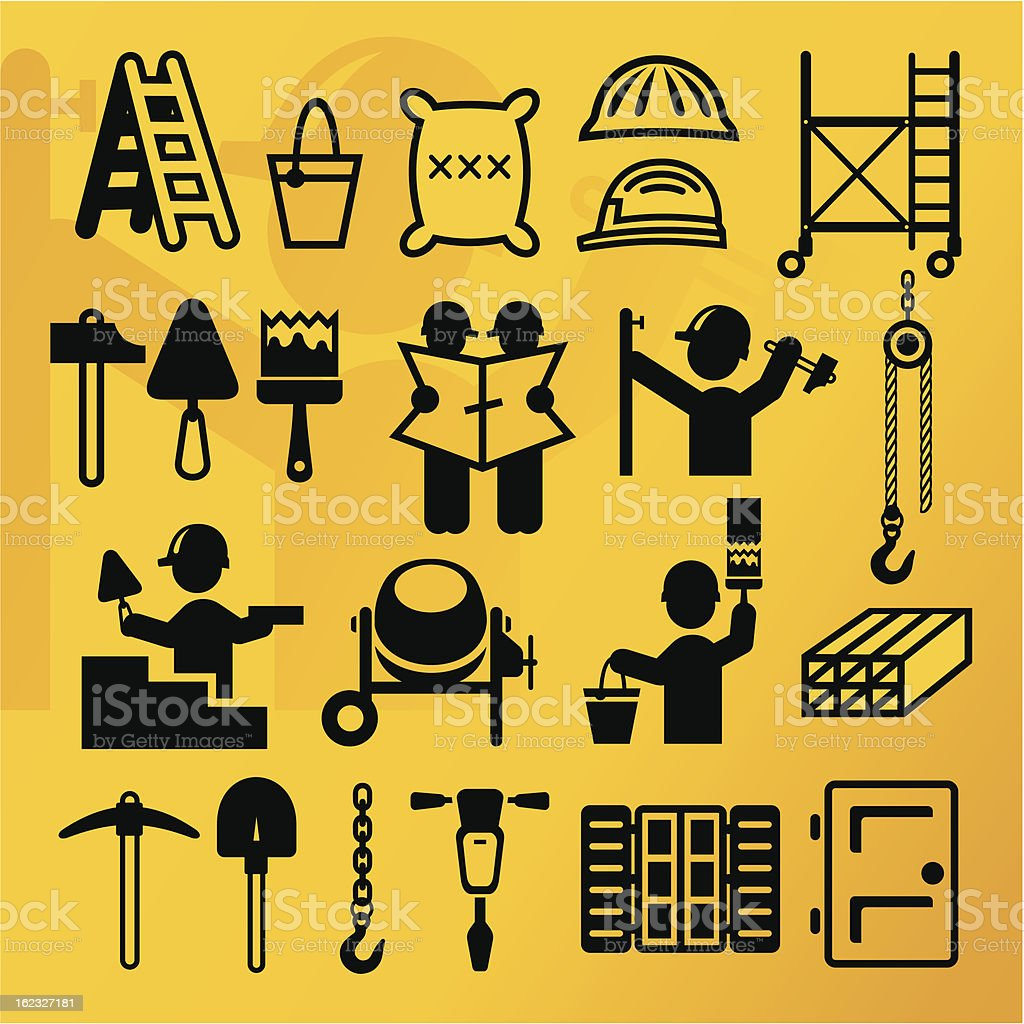 Build icons royalty-free stock vector art