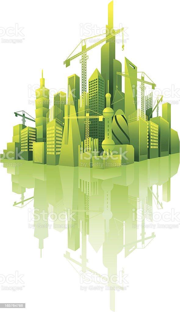 build modern city royalty-free stock vector art
