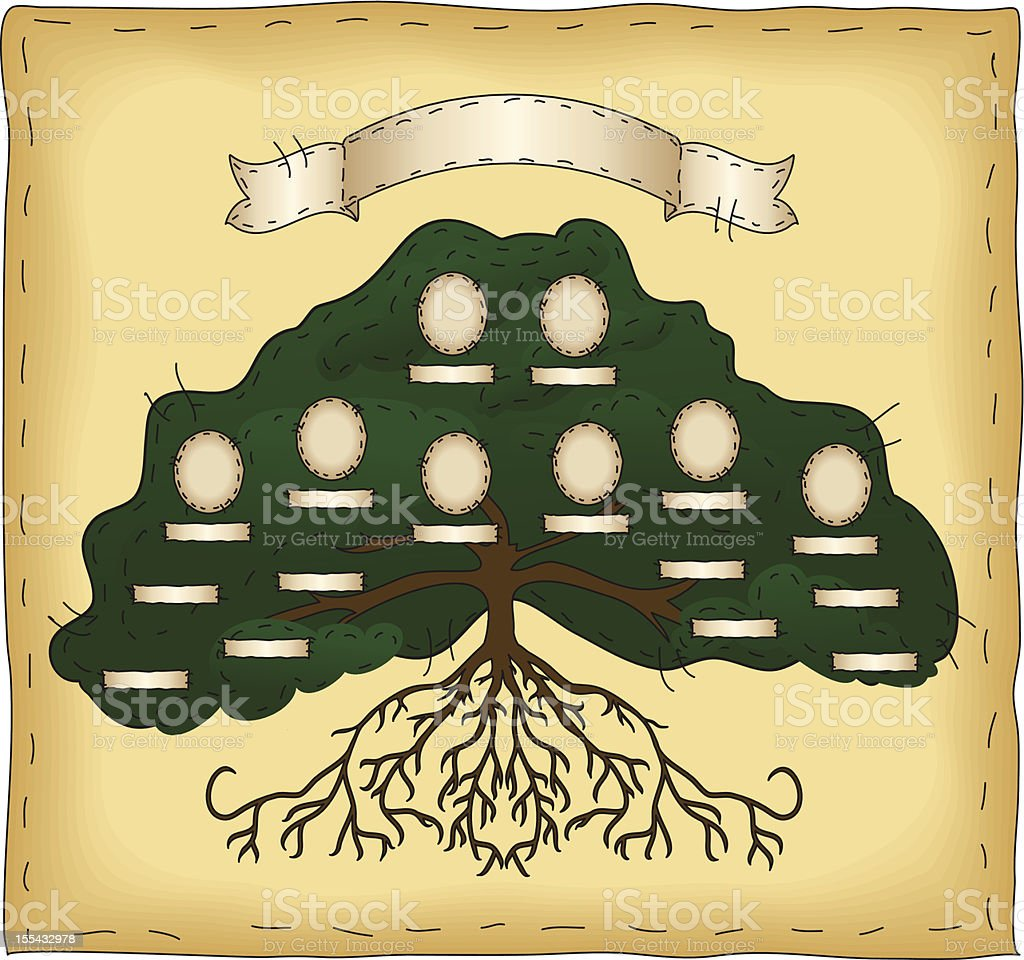 Build Your Own Family Tree royalty-free stock vector art