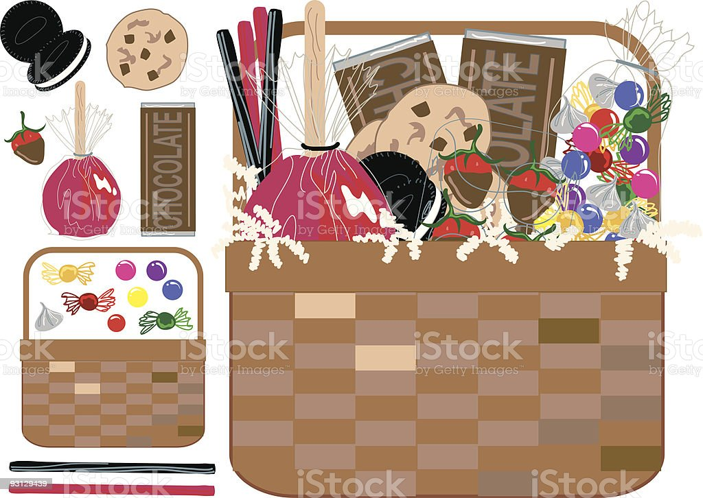 Build Your Own Gift Basket : Sweets royalty-free stock vector art