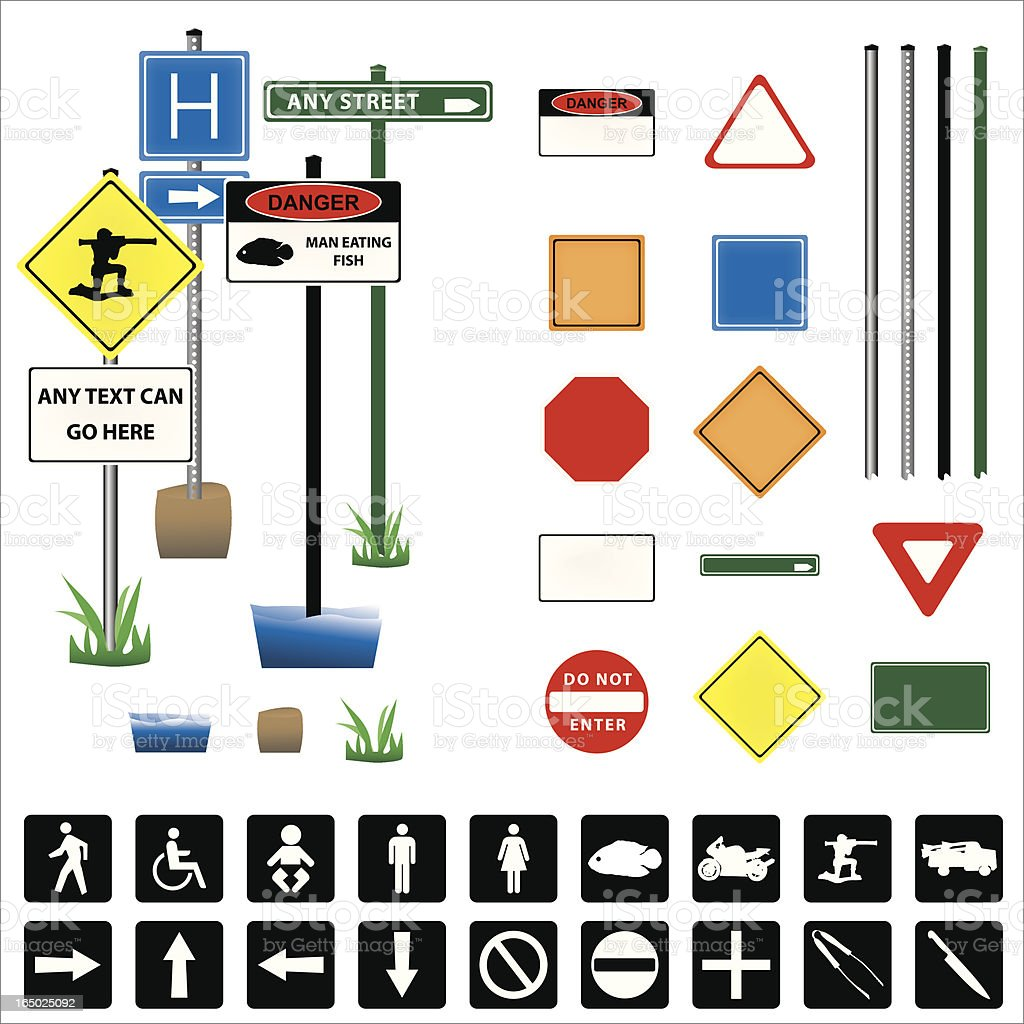 Build Your Own Sign vector art illustration