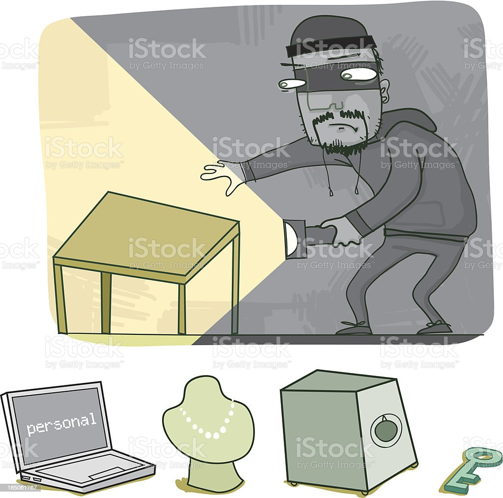 Build Your Own Thief Scene royalty-free stock vector art