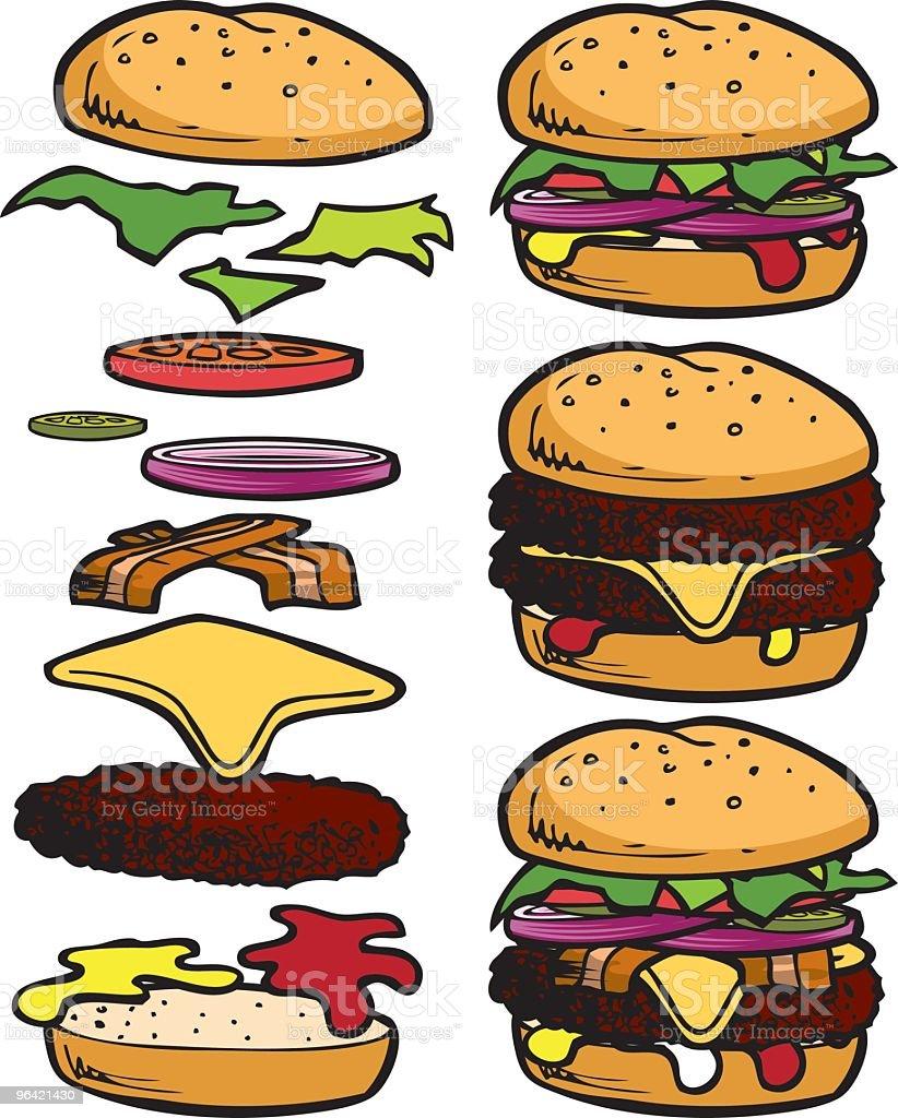 Build-a-Burger royalty-free stock vector art