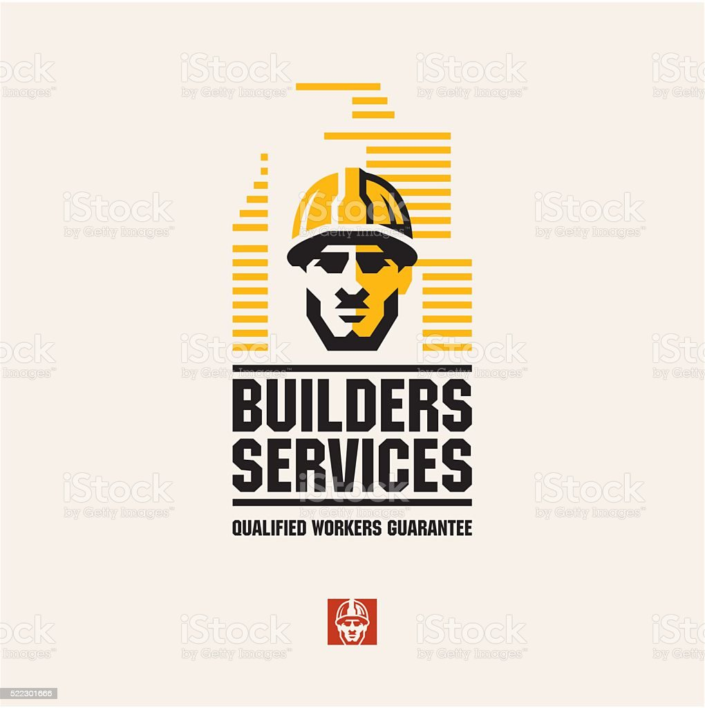 builder worker vector art illustration