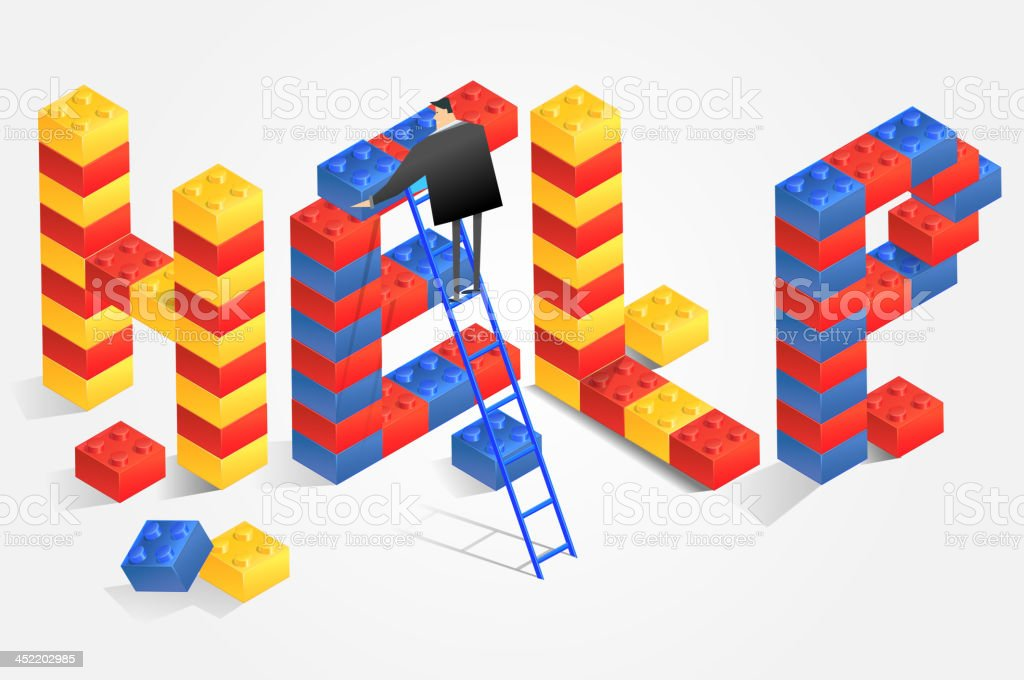 Building a Support Framework royalty-free stock vector art