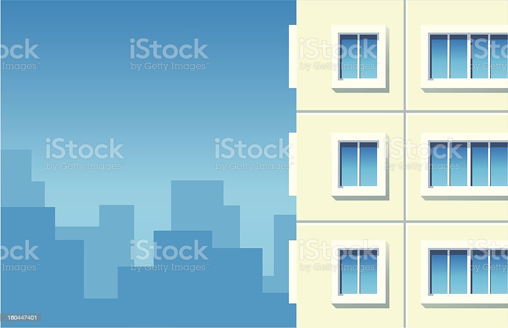 Building against city royalty-free stock vector art