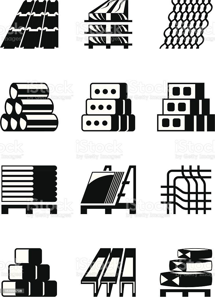 Building and construction materials royalty-free stock vector art