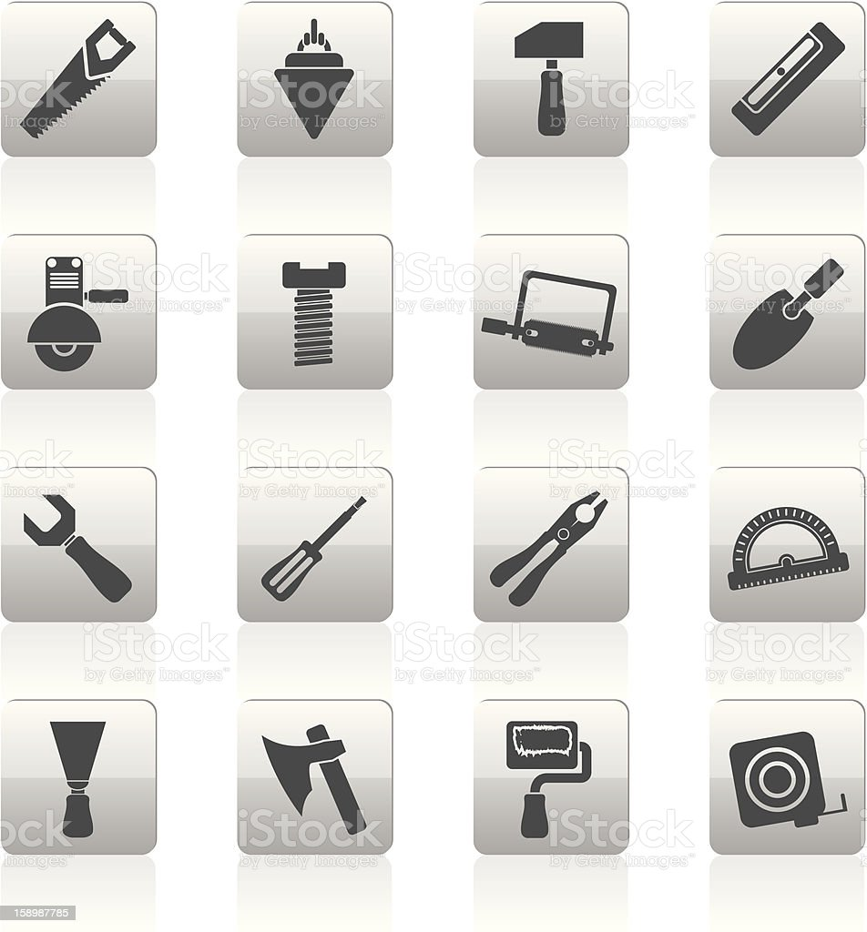 Building and Construction Tools icons royalty-free stock photo