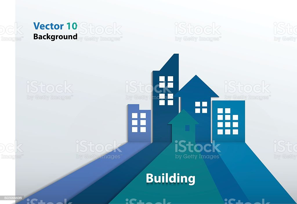 Building and houses Illustration vector art illustration