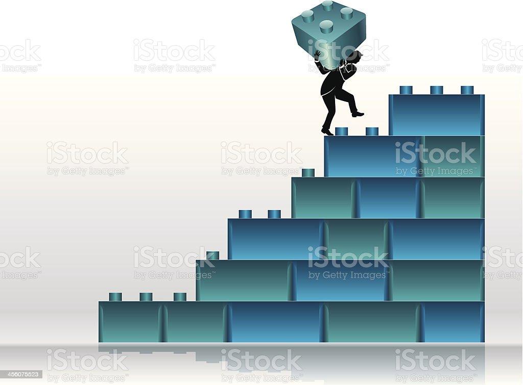 Building Blocks Graph royalty-free stock vector art