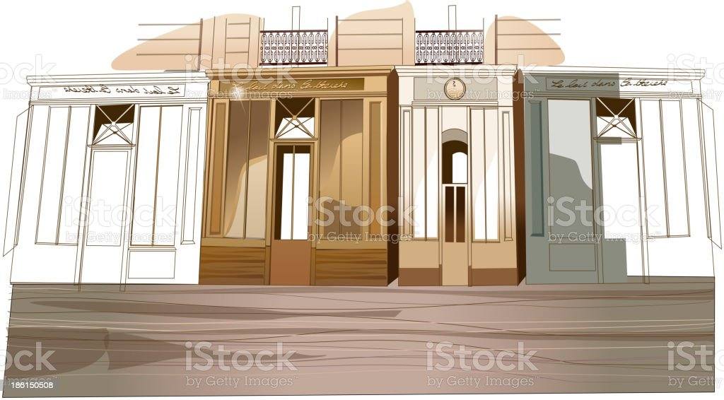 Building exterior royalty-free stock vector art
