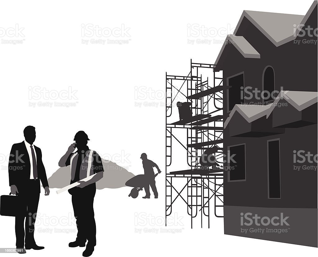 Building Financial Vector Silhouette royalty-free stock vector art